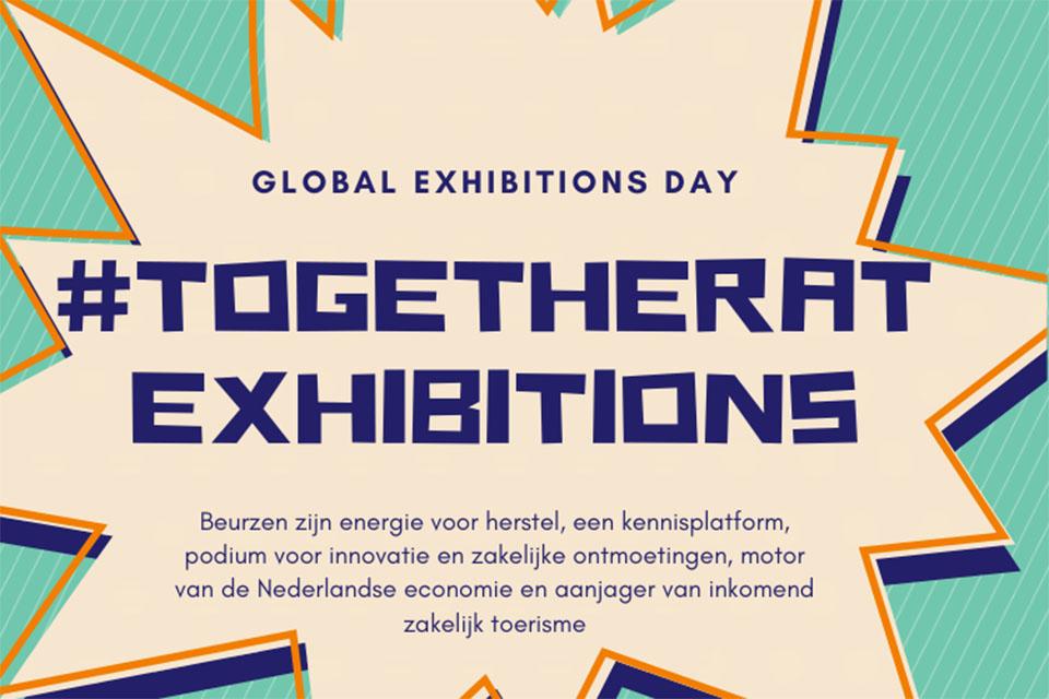 Wijbenga Standbouw-interieurbouw-coronaproof-campagneslogan van onze branche-organisatie al tegengekomen- together at exhibitions